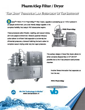 vb zeefmachine sweco  pharmasep